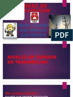 NIVELES DE TENSIÓN EN LINEAS DE TRANSMISION