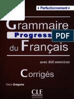 Grammaire Progressive Du Francais Niveau Perfectionnement Corriges