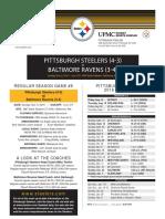 Pittsburgh Steelers At Baltimore Ravens (Nov. 6)