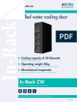 Chilled water rack cooling door for data center applications