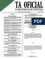 Sumario Gaceta Oficial 39.444