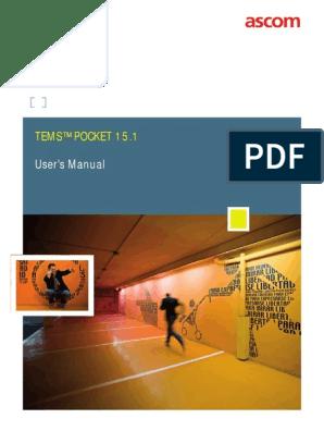 TEMS Pocket 15 1 - User Manual | Mobile Technology | Technology