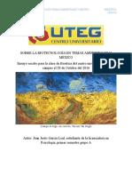 Sobre La Biotecnología en Temas Ambientales y México