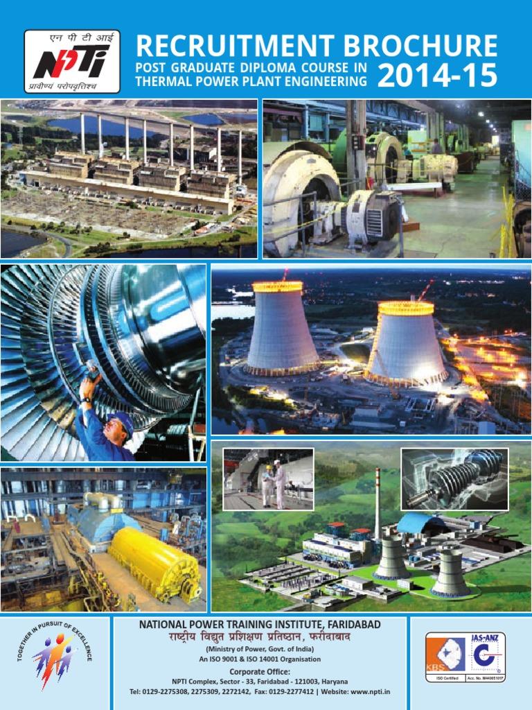 PG DiplomaInThermalPowerPlant RecruitmentBrochure   Power Station ...