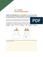 Ley de Lussac