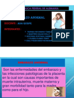 EMBARAZO ANORMAL  DIAPOSITIVA