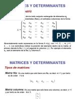 Mtrices Determinantes