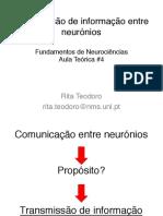 Aula 4 Transmissa o de Informac a o Entre Neuro Nios Slides