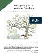 As Escolas Principais de Pensamento Na Psicologia