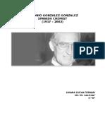 Biografia de Antonio Gonzales en Ingles