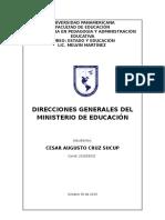Direcciones Generales Del Mineduc