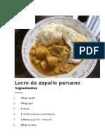 RECETA de Locro de Zapallo Peruano
