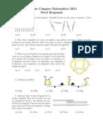 Examen de la Olimpiada de Matemáticas 2015 -Nivel Benjamin