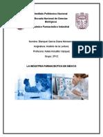 Industria Farmaceutica en Mexico