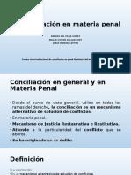Presentación Conciliacion en Penal