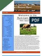 June Ruminant Report