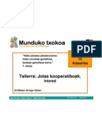 Jolas Kooperatiboak - Juegos Cooperativos DONOSTIA