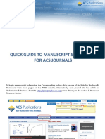 Acs Manuscript Submission Quickguide