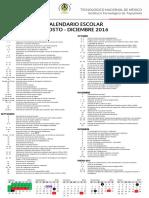 Calendario Ago Dic 2016