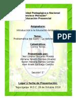 Informe Sobre La Deforestacion