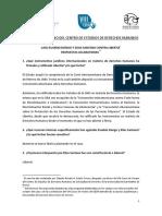 Caso Eusebio Dongo y Elías Santana vs. Libertia - Respuestas Aclaratorias - VIII Curso de Verano Del CEDH
