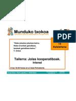 Jolas Kooperatiboak - Juegos Cooperativos BILBAO