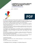 ARTIGO - CUSTOS - Como Calcular a Viabilidade de Um Projeto Utilizando Técnicas de Análise de Investimento (Wankes Ribeiro)