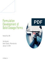 Formulation Development of Solid Dosage Form