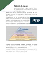 Teoría de La Pirámide de Maslow