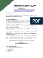 MODELO - QUESTIONÁRIO - Pesquisa de Clima Organizacional Para Pequenas e Médias Empresas (Administração e Gestão)