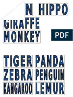 Word flashcards - Wild Animals
