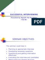 Seminar of Effective Interviewing