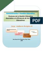 Factores de la Gestión Asociados a la Eficiencia