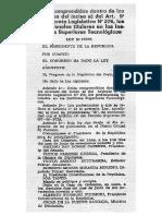 """Ley 25333 y Su Reglamento. Ubica al trabajador egresados de un IST al nivel SP""""E"""""""