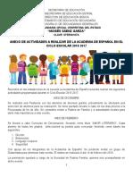 Academia de Español Actividades Programadas Durante El Ciclo Escolar 2016 2017