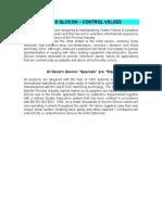 1.0 Severn Glocon CV Sizing Selection Manual