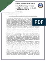 Der Administrativo - Principio de Legalidad