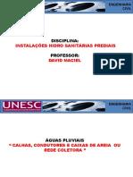 Aula 17-24-10-16 - Águas Pluviais - Calhas