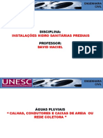 Aula 18-25-10-16 - Águas Pluviais - Calhas