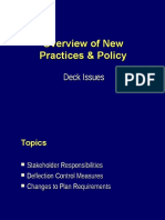 Overview of New Practices and Policy - Deck Issues