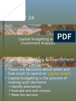 Chapter 24. Capital Budgeting and Investment Analysis (Good)