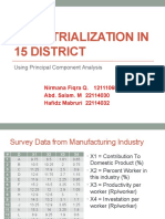 Industrialization in 15 District - PCA