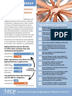 EXECUTIVE BRIEF 12 Diversity Practices of High Performance Organizations i4cp