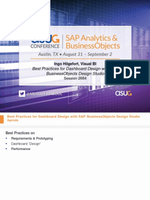 2684 Best Practices For Dashboard Design With Sap Businessobjects Design Studio 4 Software Prototyping Business Intelligence