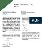 Rotatory Inverted Pendulum Using Arduino