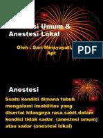 Anestesi Umum & Anestesi Lokal