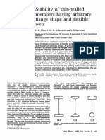 Stability of Thin Walled Members Having Arbitrary Flange Shape and Flexible Web 1992