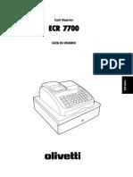Manual Ecr7700 Ld
