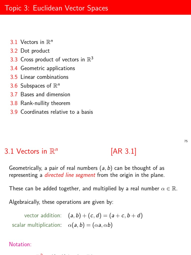 Non parallel vectors definition