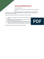 Patent Registration in Eu